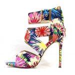 Barbara-51 Multi Strappy Open Toe Stiletto High Heel Sandals -0