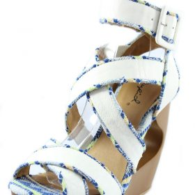 d515e6c24e4 Qupid Lisbeth 01 White Criss Cross Wedge Platform Open toe Sandals-676.  Click to enlargeClick to enlarge