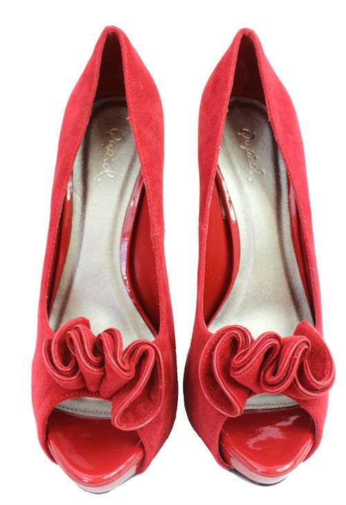 Qupid Nydia-13 Red Platform High heels open toe Pumps-1905