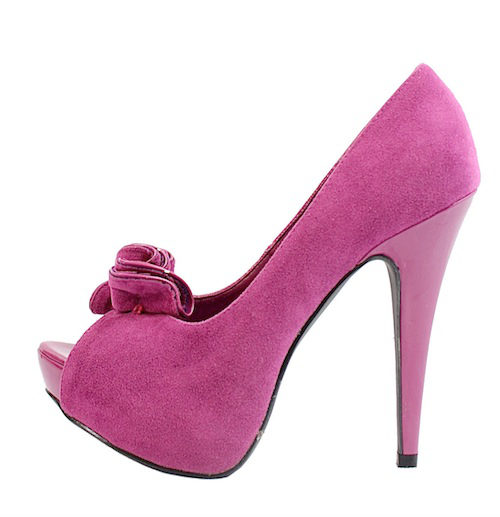 Qupid Nydia-13 Berry Platform High heels open toe Pumps-0