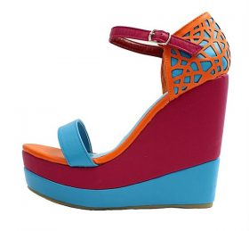 Kiss and Tell Quinn-04 Open Toe Platform Wedge Sandals-0