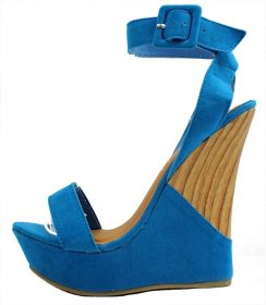 Kiss and Tell Sydney-01 Cobalt Blue Platform Open Toe Wedge Sandals-0