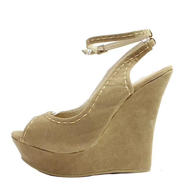 Kiss and Tell Sydney-06 Sand Platform Open Toe Wedge Sandals-0