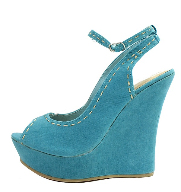 Kiss and Tell Sydney-06 Blue Platform Open Toe Wedge Sandals-0