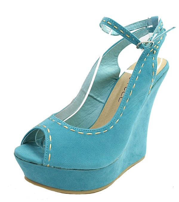 Kiss and Tell Sydney-06 Blue Platform Open Toe Wedge Sandals-1829