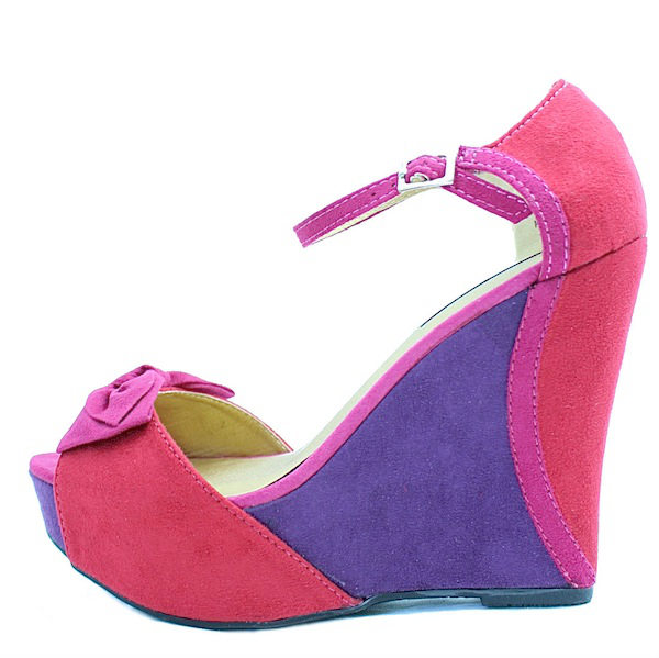 47a4535bdad Dollhouse Agathah Open toe color block Wedge Sandals-0