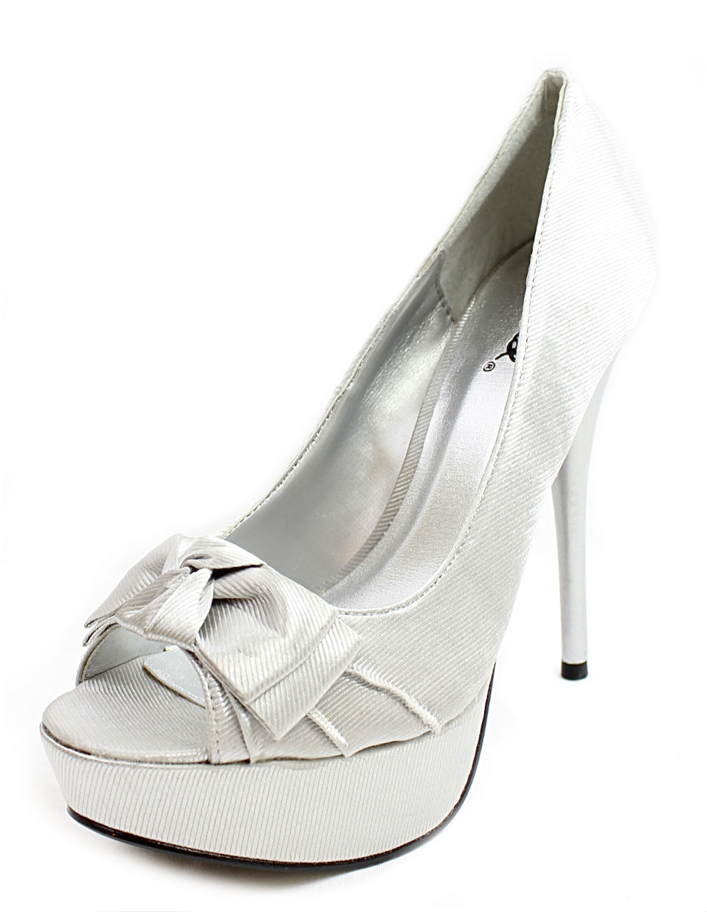 Qupid Nuetral-10 Satin Dress Platform Pumps -1495