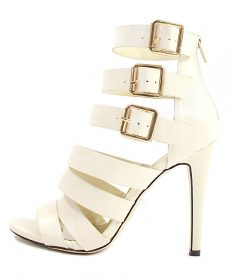 Clara Nude Strappy Gladiator Buckle Open Toe Sandals-0