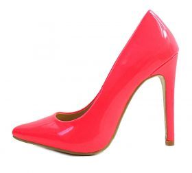 Cape Robbin Veni-9 Neon Pink Pointy Toe Pumps-0