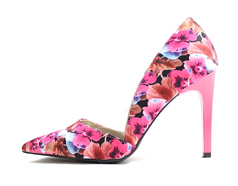 4a075b90223 Qupid Mayfair-12 Fuchsia Floral Women Pointy Toe Stiletto Pumps-0