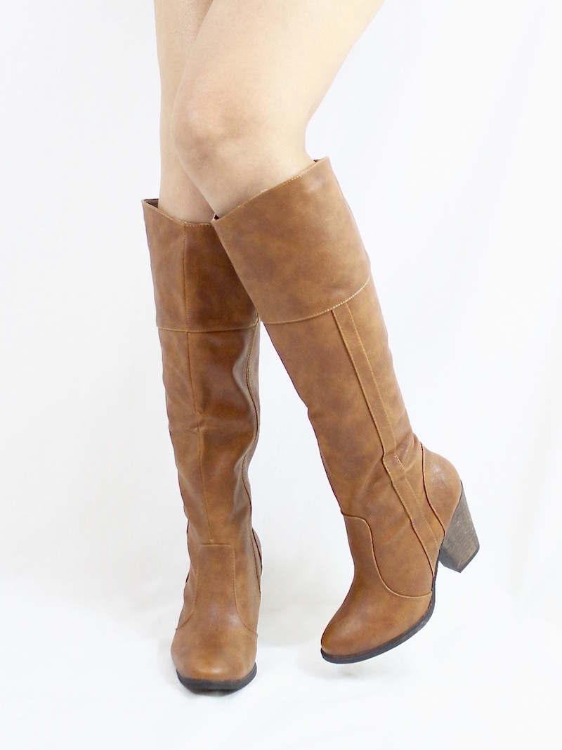 Dollhouse Attention Chestnut Cowgirls Western boots-3271