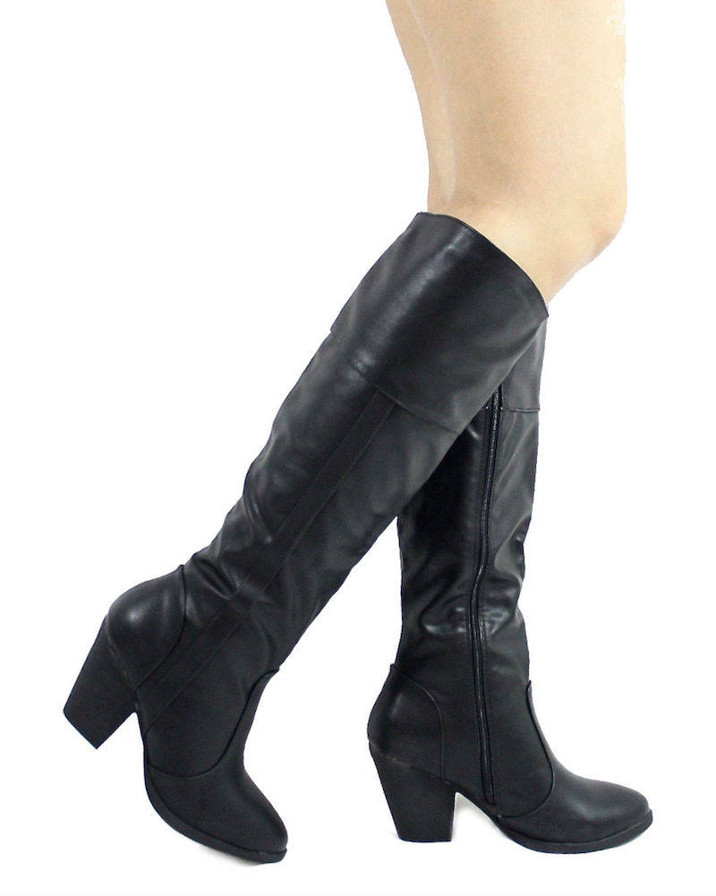 Dollhouse Attention Black Cowgirls Western boots-0
