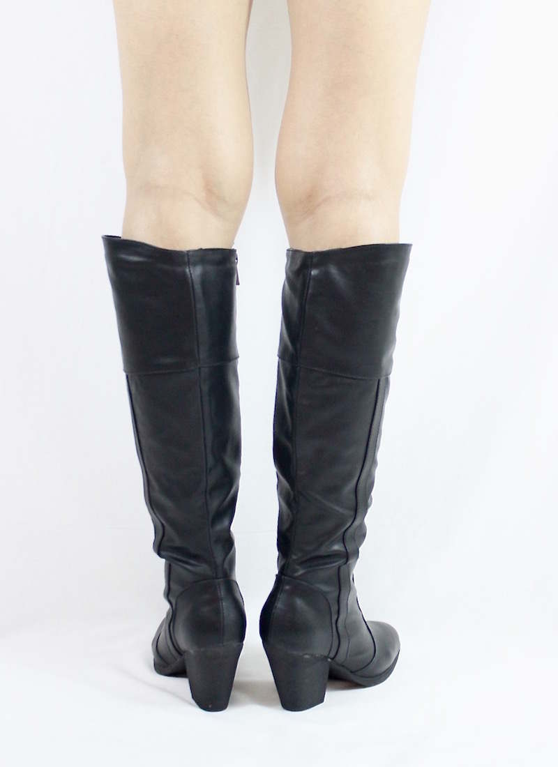 Dollhouse Attention Black Cowgirls Western boots-3272