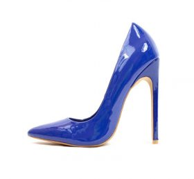 Shoe Republic Gabriel Pointy Toe Blue Dress Stiletto Pumps-0