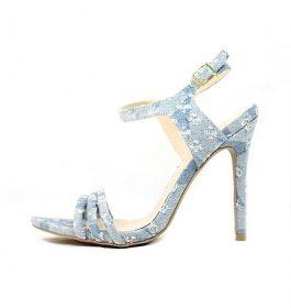 Qupid Frasier-20X Blue Distress Denim Stiletto Heel Sandals-0