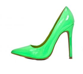 Shoe Republic Neon Green Patent Pointy Toe Dress Stiletto Pumps-0