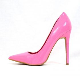 Shoe Republic Neon Pink Patent Pointy Toe Dress Stiletto Pumps-0