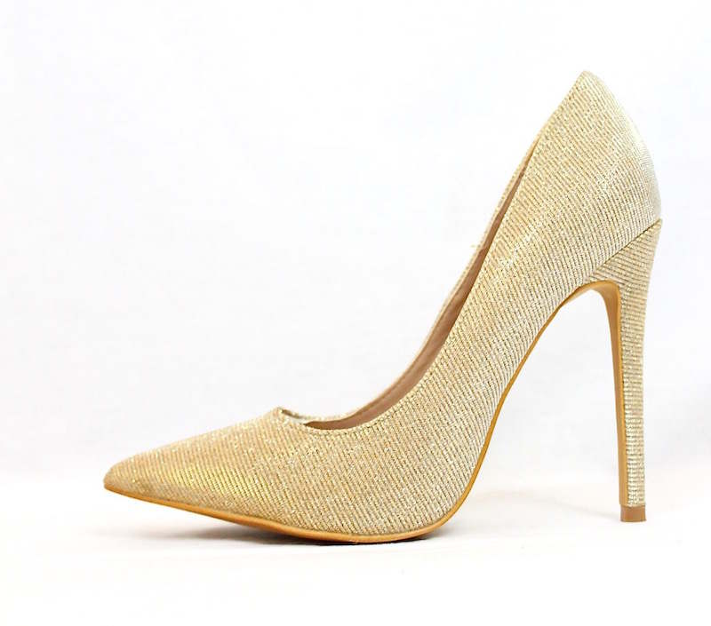 754f3313cea Shoe Republic Shiner Gold Pointy Toe Dress Stiletto Pumps-0