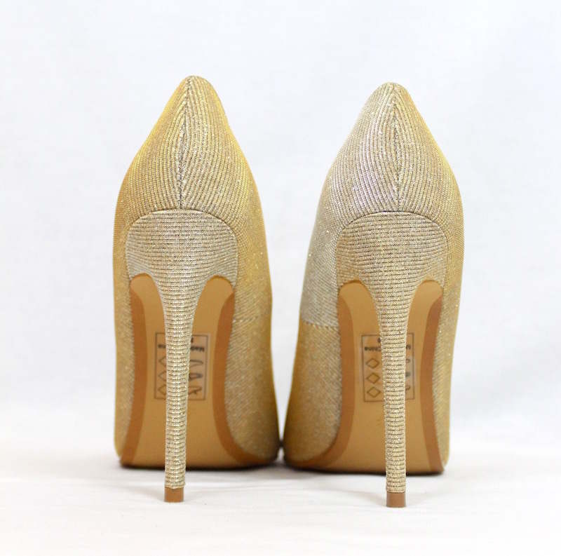 Shoe Republic Shiner Gold Pointy Toe Dress Stiletto Pumps-3408
