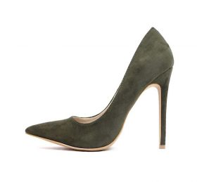 Shoe Republic Trina Olive Pointy Toe Dress Stiletto Pumps-0