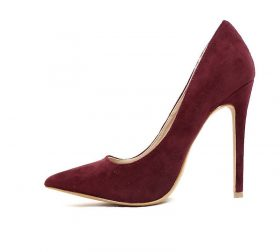 Shoe Republic Trina Wine Pointy Toe Dress Stiletto Pumps-0