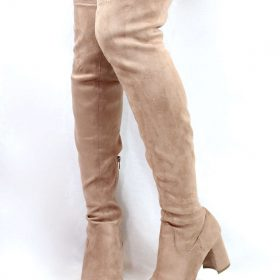 4dd07553ac8 Shoe Republic Andra Mauve Round Toe Thigh High Chunky Heel Boots-3845.  Click to enlargeClick to enlarge