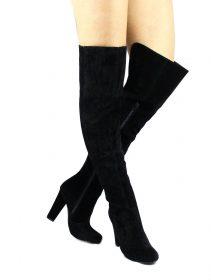 Shoe Republic Foyles Black Thigh High Boot-0