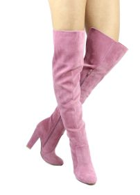 Shoe Republic Foyles Mauve Thigh High Boot-0