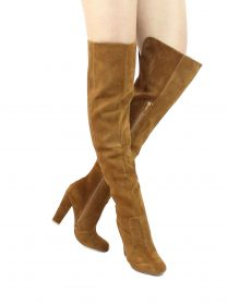 Shoe Republic Foyles Mocha Thigh High Boot-0