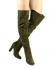 Shoe Republic Foyles Olive Thigh High Boot-0