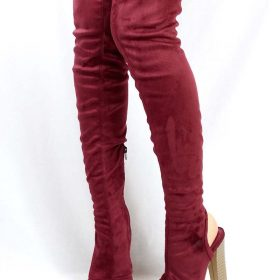 915a8ebcb9fd Shoe Republic Kris Wine Open Toe Cut Out Thigh High Chunky Heel Boots-3903.  Click to enlargeClick to enlarge