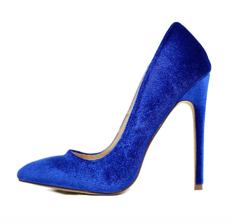 Liliana Pixie Blue Pointy Toe Pump-0