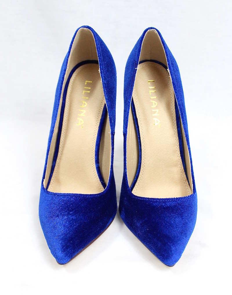 Liliana Pixie Blue Pointy Toe Pump-3630