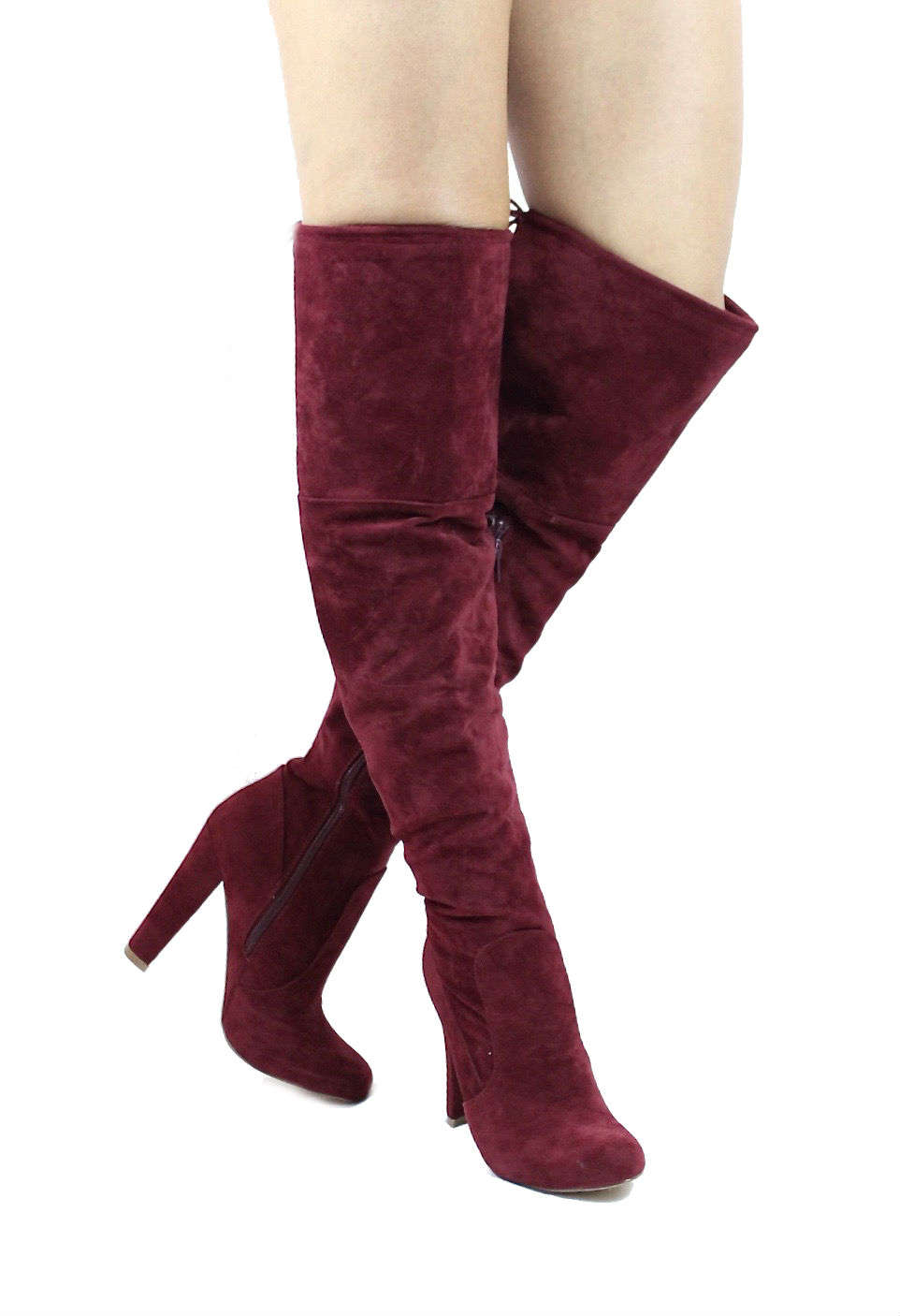 Republic Sophie Burgundy Wowtrendz Round Toe Dress Boots