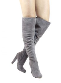 Republic Sophie Grey Round Toe Dress Boot-0
