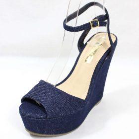 16d16b95f9e Liliana Anneka-24 Open Toe Platform Denim Wedge Sandals-4325. Click to  enlargeClick to enlarge