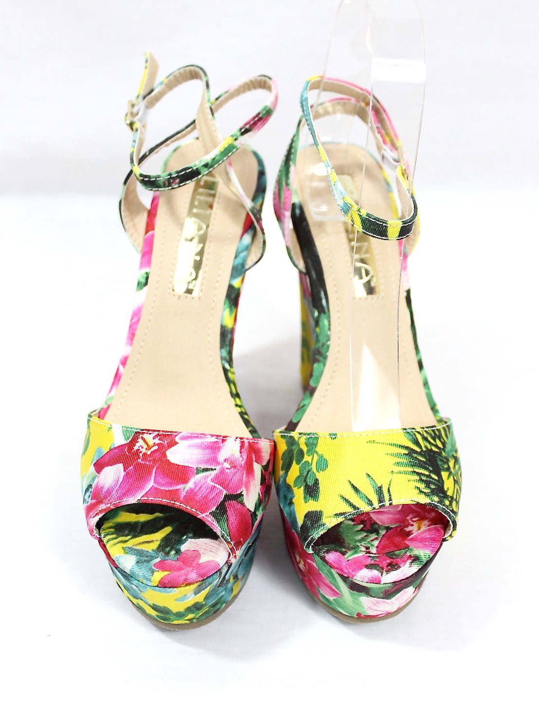 Liliana Anneka-24 Open Toe Platform Floral Wedge Sandals-4314