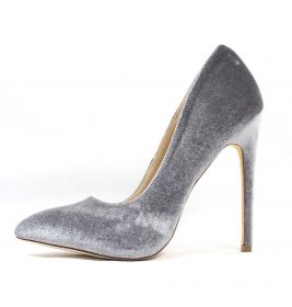 Liliana Pixie Grey Pointy Toe Pump-0