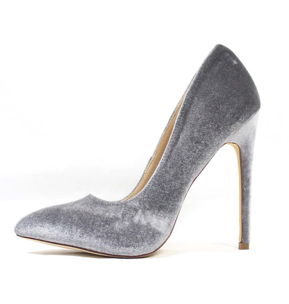 Liliana Pixie Grey Pointy Toe Pump-0