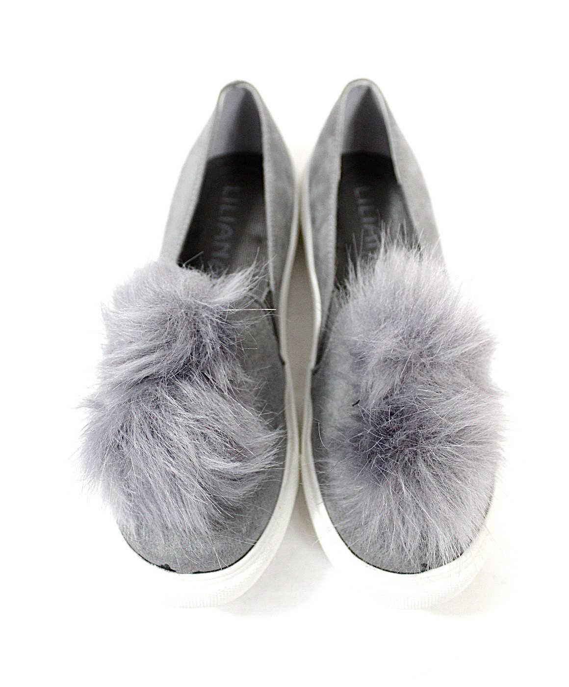 Fur Ball Pom Pom Sneakers