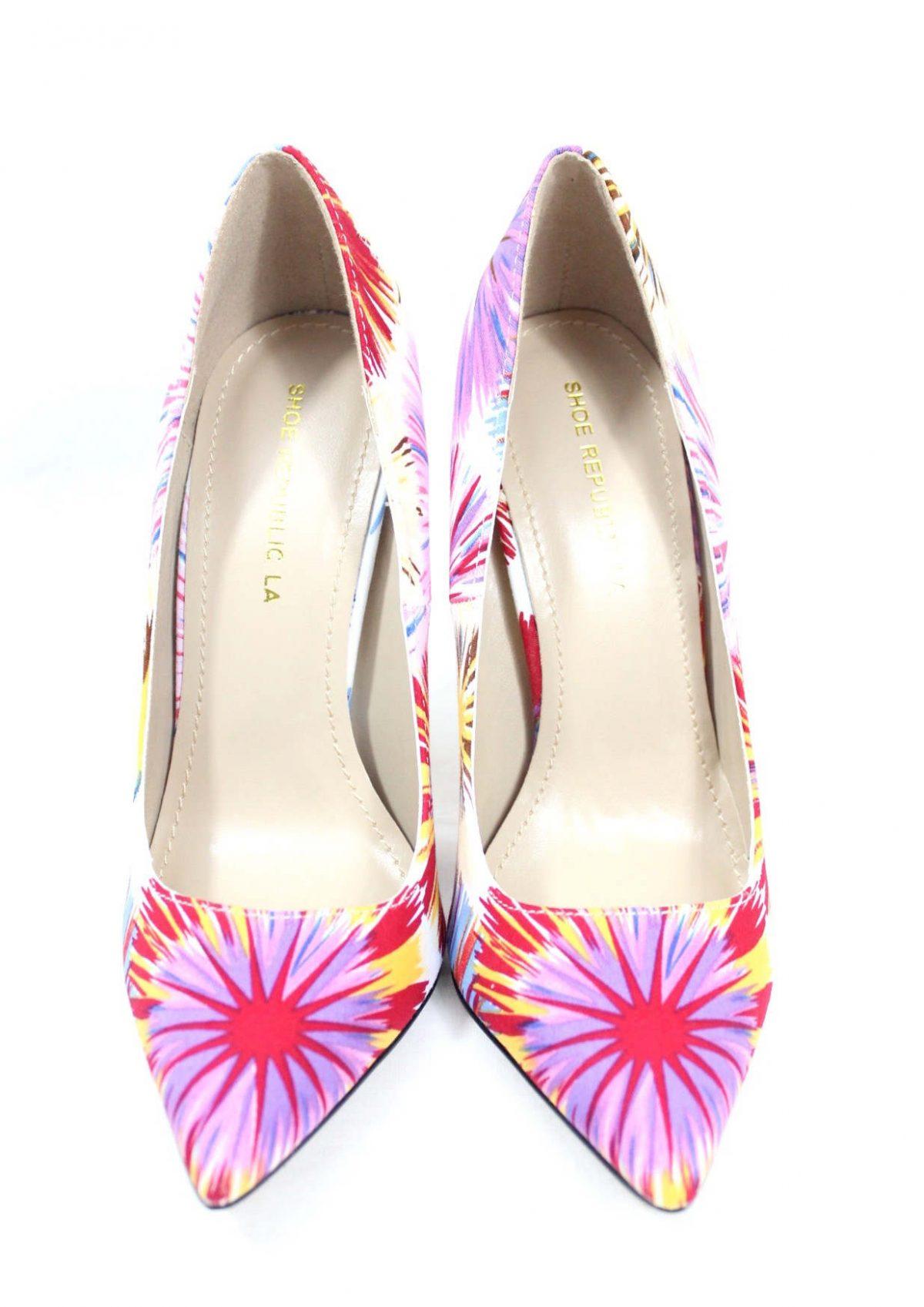 Shoe Republic Cajun White Pointy Toe Pumps-4557