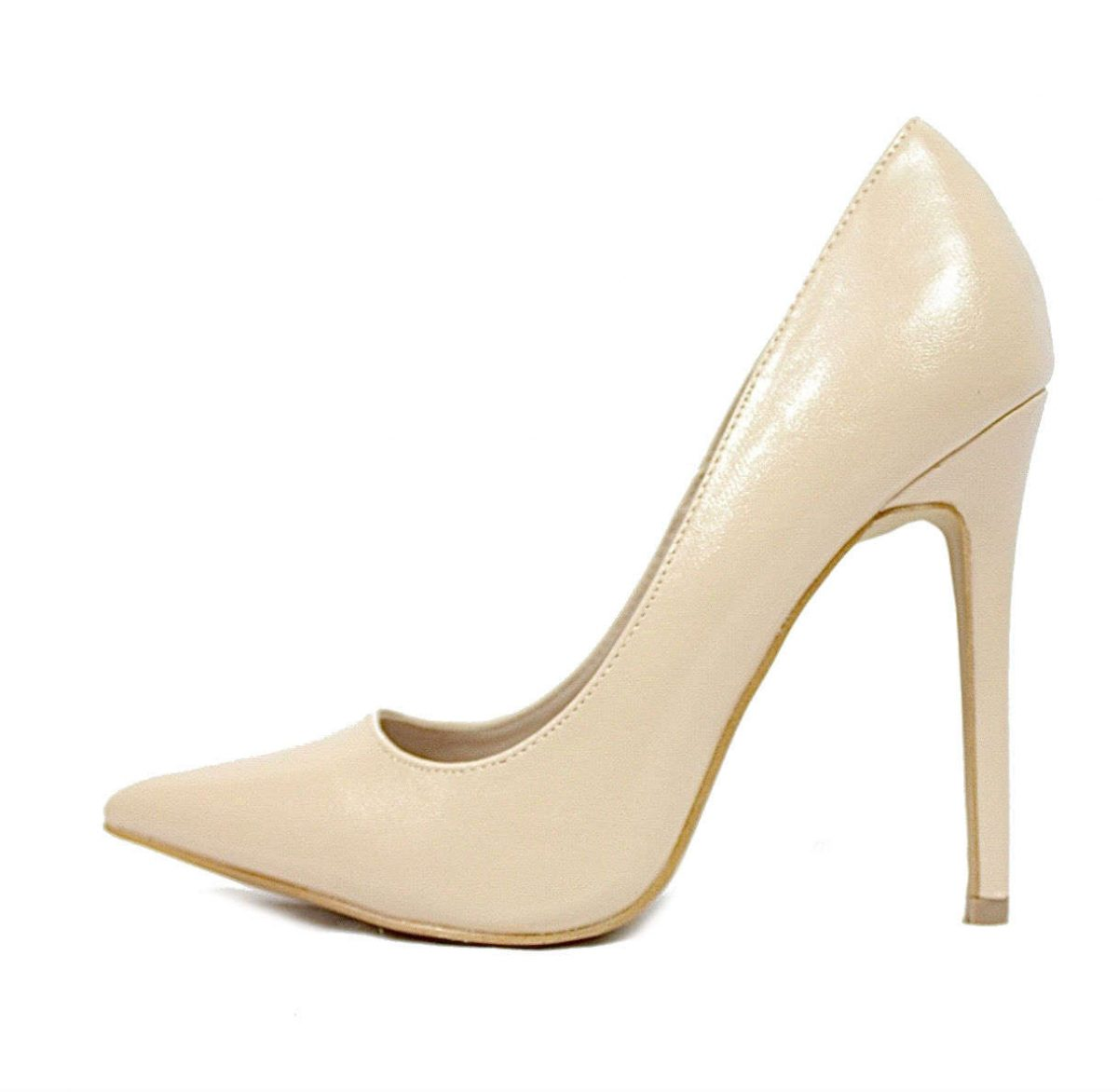 Shoe Republic Giuliana Nude Pointy Toe Pumps-0