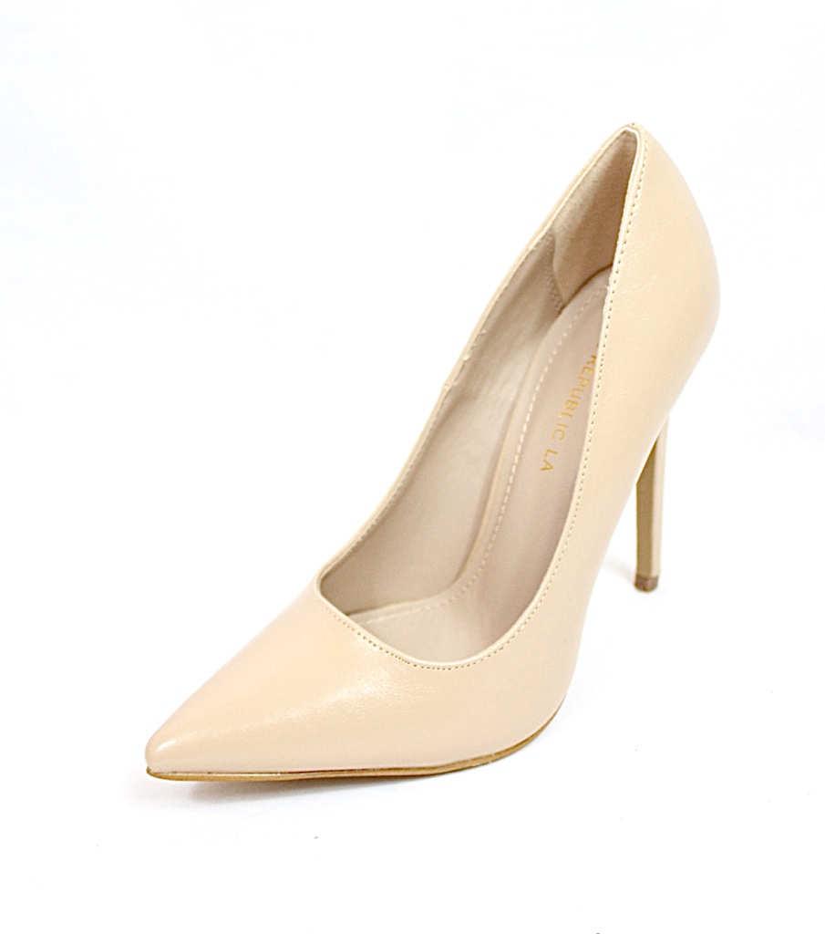 Shoe Republic Giuliana Nude Pointy Toe Pumps-4518