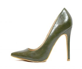Shoe Republic Giuliana Olive Pointy Toe Pumps-0