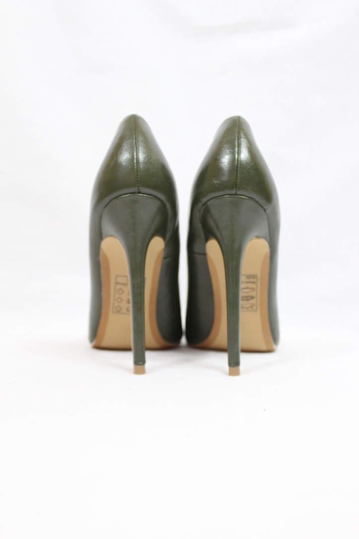 Shoe Republic Giuliana Olive Pointy Toe Pumps-4508
