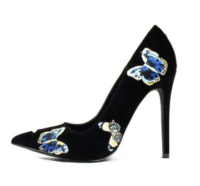 Shoe Republic Marcela Black Pointy Toe Pumps-0