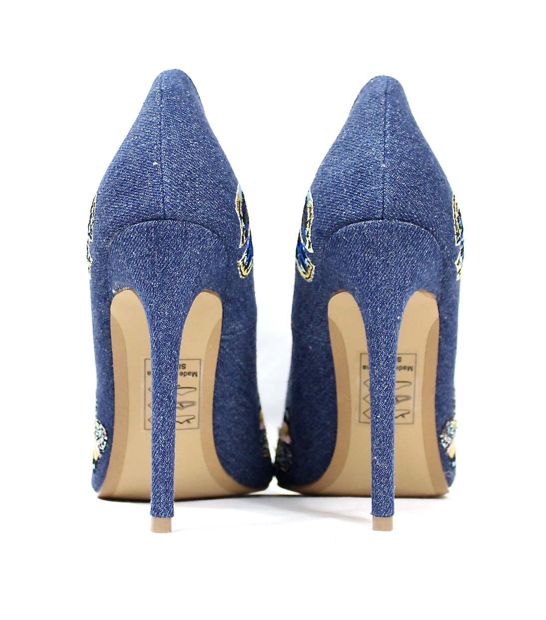 Shoe Republic Marcela Blue Denim Pointy Toe Pumps-4597