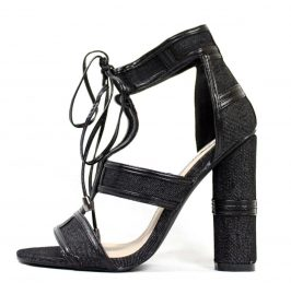 Cape Robbin Maura-2 Lace Up Open Toe Strappy Block Heel Sandals-0