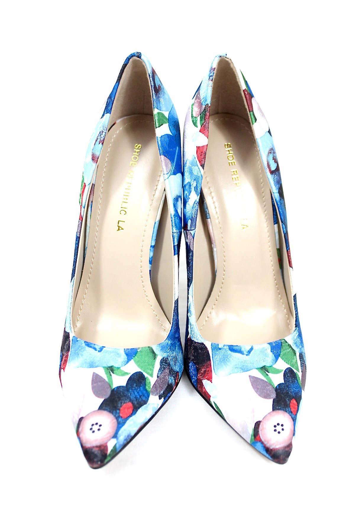 Shoe Republic Styler Blue Pointy Toe Pumps-4582