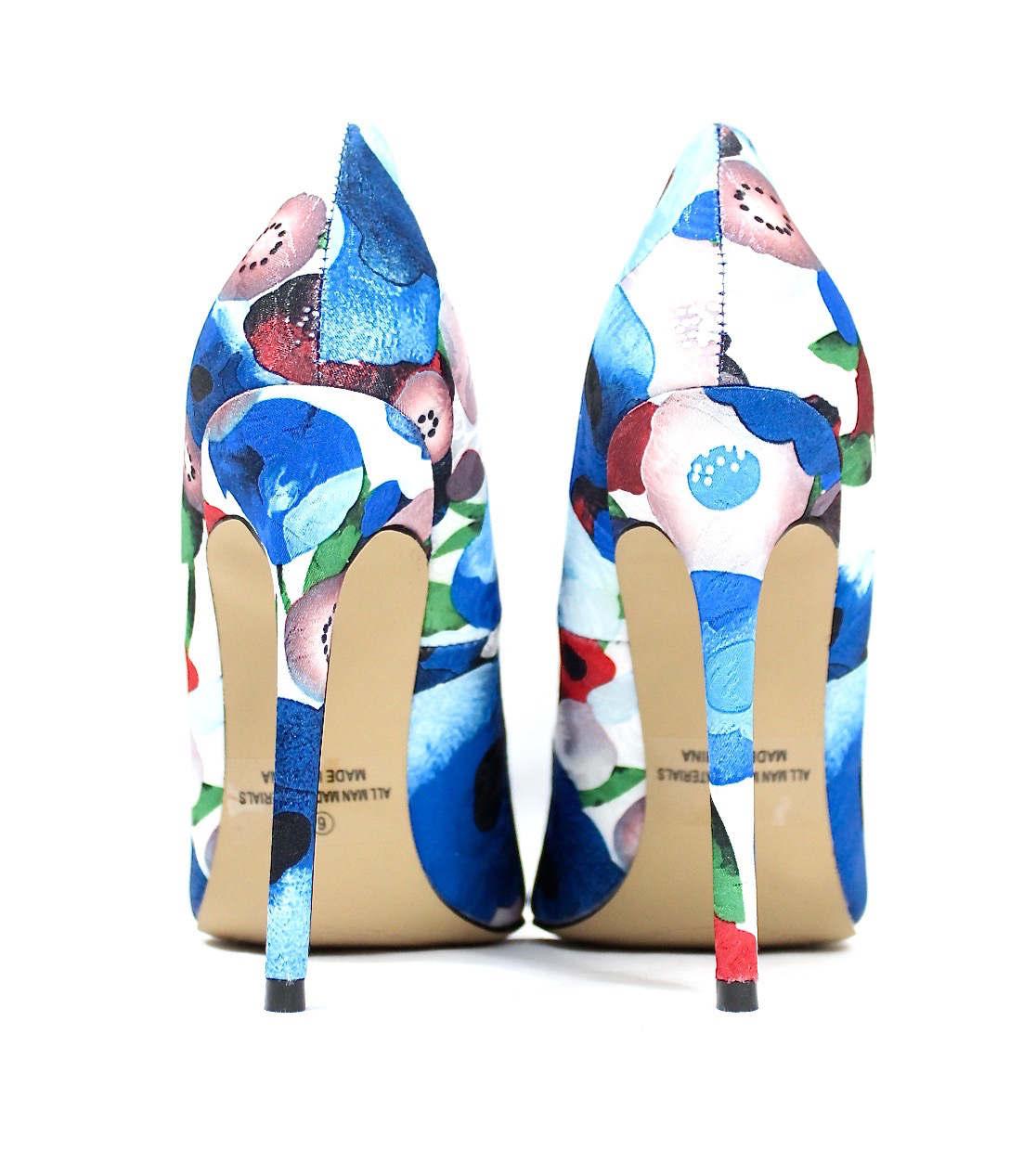 Shoe Republic Styler Blue Pointy Toe Pumps-4581